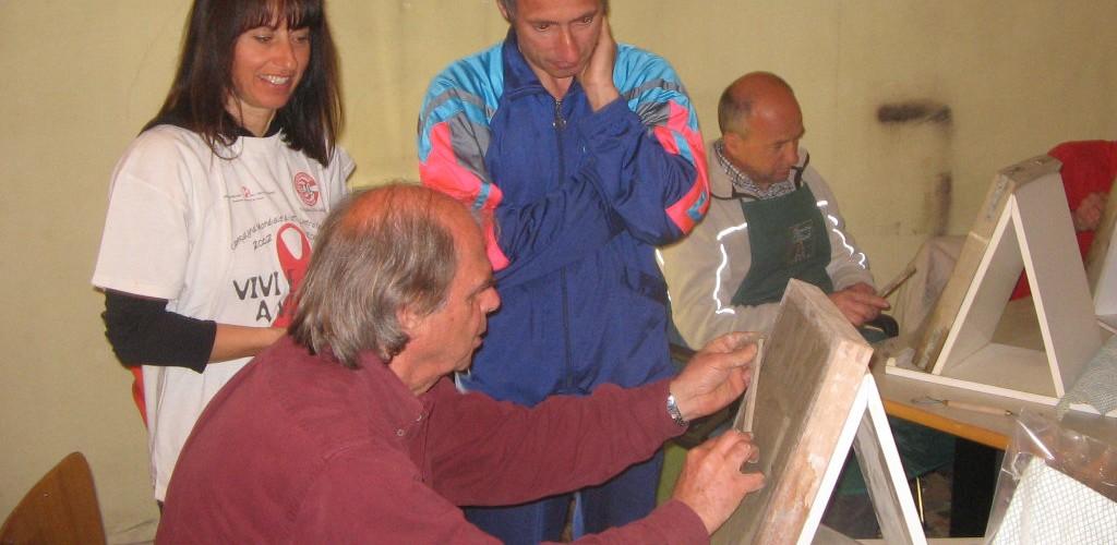 Corso di scultura con Mauro Decarli.