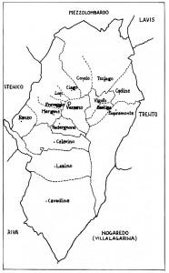 mappa del Distretto di Vezzano